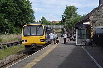 Montpelier railway station - First Great Western Pacer unit 143621 at Montpelier in 2010.