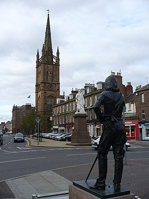 Montrose, Angus - Montrose and the steeple