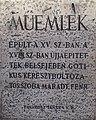 Monument sign. - 13 Országház Street, 2016 Budapest.jpg