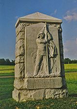 Monument to the 4th Michigan Infantry at Gettysburg.jpg