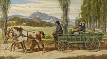 Im Gemälde Die Landpartie hält der Maler Moritz von Schwind einen gemeinsamen Ausflug mit Eduard von Bauernfeld fest. (Quelle: Wikimedia)