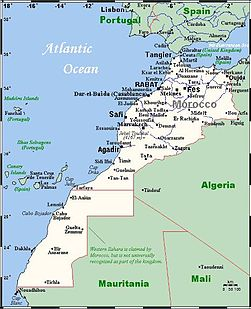Morocco Map With Western Sahara - Western sahara map