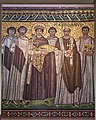 Mosaic with a depiction of Justinian I in the Christian and Byzantine Museum on February 2, 2020.jpg