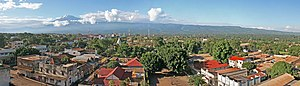 Moshi, Tanzania - Moshi panorama with Mount Kilimanjaro in the background