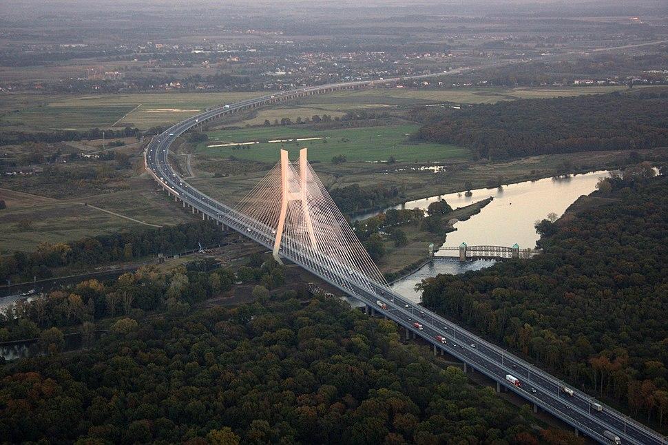 Most Redzinski z lotu ptaka