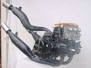 V3 engine - Honda MVX250F two-stroke V3 engine