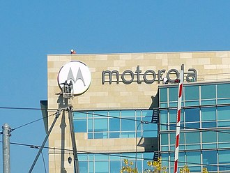 Motorola Mobility - The installation of the 2013-2014 Motorola Mobility logo near the main Google campus, following Google's purchase. The office on the photo has since been closed.