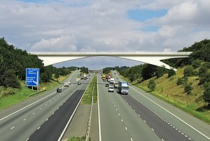 M1 motorway - The M1 in Barnsley, heading north towards Leeds