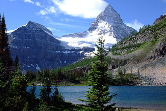 Mount Assiniboine - Mount Assiniboine seen from Sunburst Lake