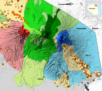 Mount Kilimanjaro Geology map-nl (crop).png