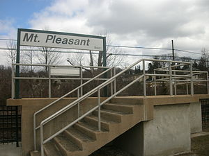 Mount Pleasant (Metro-North station) - The inbound platform at the Mount Pleasant station in March 2013.