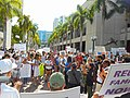 Moveon.org Anti Trump Family Separation Protests - Miami Dade College, Miami Florida 04.jpg