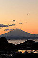 Mt. Fuji from Enoshima island with painting composition (6534394729).jpg
