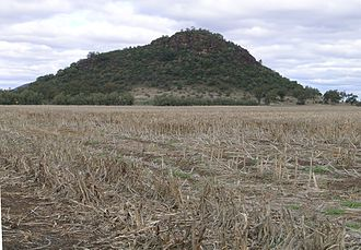 Liverpool Plains - One of the many hills that dot the Liverpool Plains, Mullaley, NSW