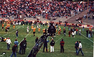 German Bowl - The Munich Cowboys celebrating their German Bowl triumph in 1993.