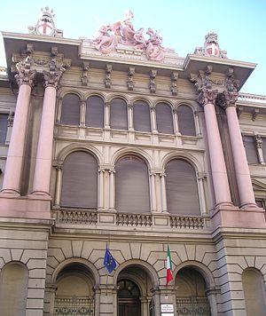 Museo Civico di Storia Naturale di Genova - The entrance of the museum.