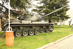 23-F - One of the Spanish Army's M47 Patton tanks that was ordered onto the streets of Valencia by Captain General Jaime Milans del Bosch during the attempted coup of February 23, 1981.
