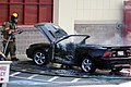 Mustang car fire at CVS on Key West Highway in North Potomac MD July 12 2012 (7575626026).jpg
