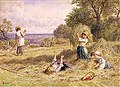 Myles Birket Foster - Landscape with Figures.jpg
