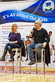 MythBusters Stars Adam Savage and Kari Byron at Dublin High School Engineering Academy Open House.jpg