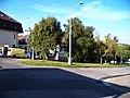 Náměstí Na Farkáně, severní část, od ulice Na Farkáně I.jpg