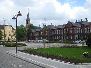 Bohumín - Masaryk Square and the town hall in Nový Bohumín