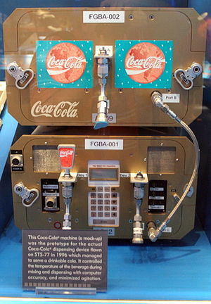STS-63 - STS-63 carried the first Coke dispenser in space on SPACEHAB-3
