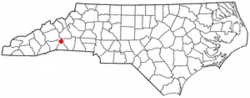 Location of Chimney Rock, North Carolina