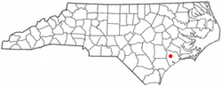 Location of Half Moon, North Carolina