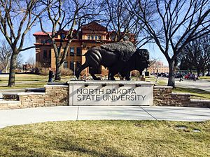 North Dakota State University - One of North Dakota State University's main iconic images welcomes you to their campus.