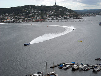 Arendal - The annual Norwegian Grand Prix for F1 Powerboat Racing is held at Arendal