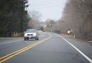 New Jersey Route 179 - NJ 179 northbound entering Ringoes.