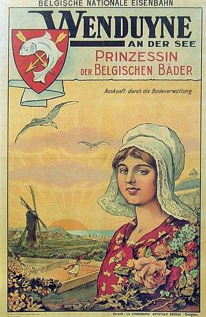 Wenduine - Wenduine seaside on a German language poster.