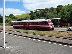 Pahiatua Railcar Society - Standard railcar RM 31 in the yard at Pahiatua station.