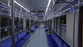 Line C (Buenos Aires Underground) - Interior of the Nagoya 300 Series rolling stock