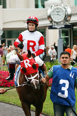 Kenneth and Sarah Ramsey - Image: Napravnik at Churchill Downs (11151454063)