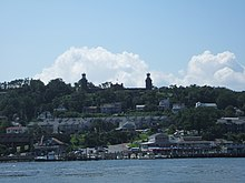 Navesink Twin Lights from Sandy Hook, New Jersey.jpg
