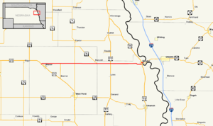 Nebraska Highway 51 - Image: Nebraska Highway 51 map