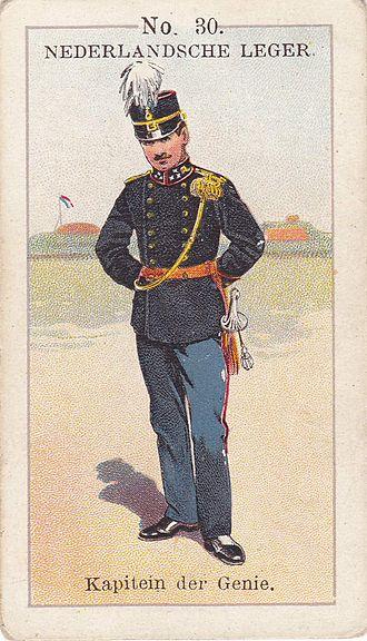 Kapitan (rank) - Kapitain mil. engineering Netherlands ca. 1900.