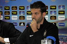Stramaccioni in conferenza stampa con l'Inter