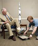 Neil Armstrong casts his footprint.jpg