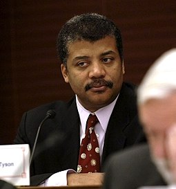 Astrophysicist Neil deGrasse Tyson is director of New York City's Hayden Planetarium. Neil deGrasse Tyson - NAC Nov 2005.jpg