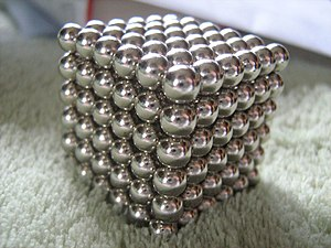 Neodymium magnet toys - Neodymium magnet spheres constructed in the shape of a cube