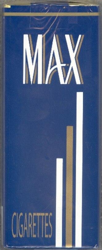 Max (cigarette) - Image: Newmaxpack 1