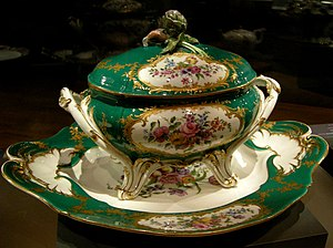 Tureen - A Sèvres, soup tureen and tray, Sèvres porcelain, National Gallery of Victoria, Australia.