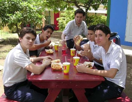 Nicaraguan High school students at the American Nicaraguan School. Nicaragua boys.jpg