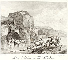 Landscape with a Rocky Cliff over a River