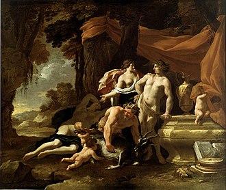 Nicolas Chaperon - The Union of Venus and Bacchus, 1639, Dallas Museum of Art