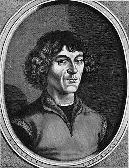 Nicolaus Copernicus. Reproduction of line engraving