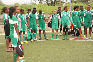 Nigeria women's national under-20 football team - Training in Abuja in preparation for the worldcup qualifier game against Congo